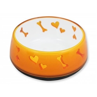 All for Paws Large Orange Dog Love Bowl
