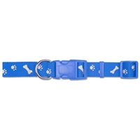 Ancol Medium Blue Paw N Bone Reflector Collar
