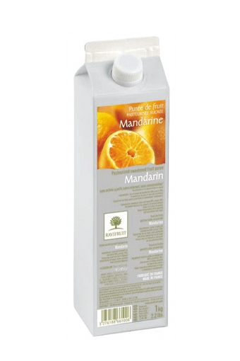 Mandarin Pasteurized Fruit Puree, Ravifruit, 1kg