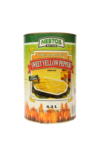 Roasted Yellow Peppers, 4.1kg Nestos