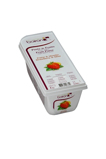 Strawberry  Mint Puree Frozen, Boiron, 1kg