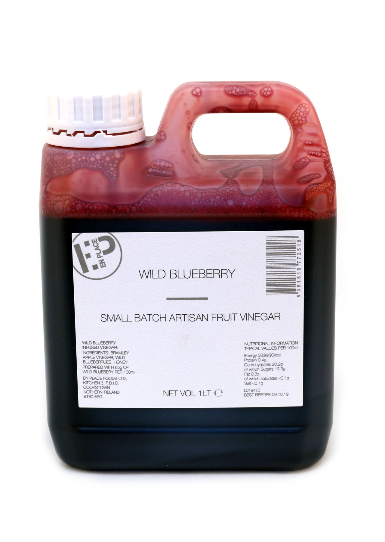 Wild Blueberry Vinegar En-Place 1lt