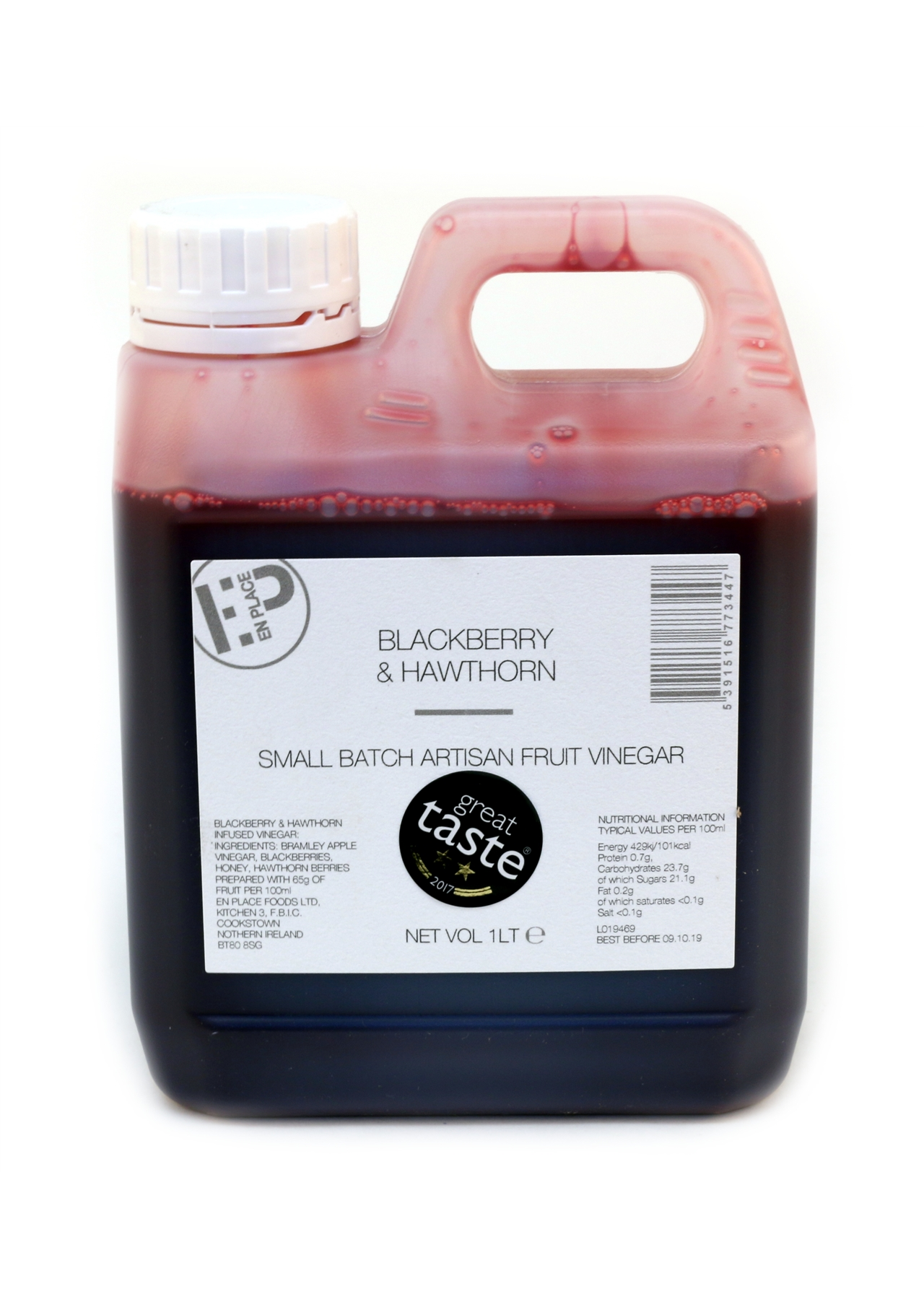 Blackberry & Hawthorn Vinegar En-Place 1lt