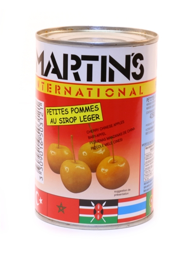 Whole Baby Apples in light Syrup Martins 400g
