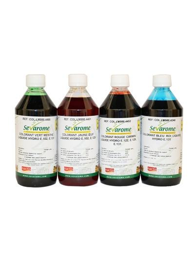 Sevarome Food Colouring Blue Green Red Yellow 550ml