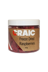 Craic Freeze Dried Whole Raspberries 60g