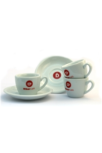 Dibarcafé  Espresso Cups and Saucers Ceramic x 12