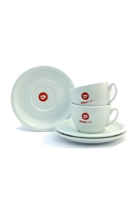 Dibarcafé Cappuccino Cups and Saucers Ceramic x 12