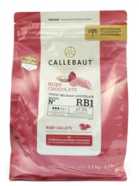 Callebaut Ruby Chocolate Buttons 2.5kg