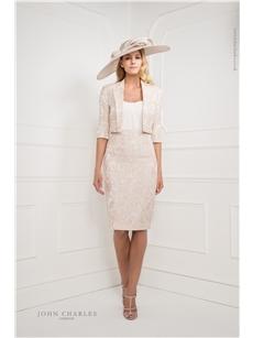 Blush Dress and Cropped Jacket 25877