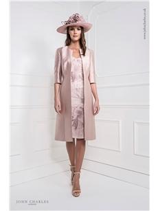 Blush Dress and Coat 25921B