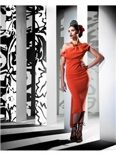 Sian Dress Orange