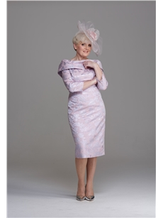 Blush Pink and Silver Mother of the Bride Dress