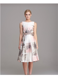 Nuribel Pink Floral Lace V-back dress