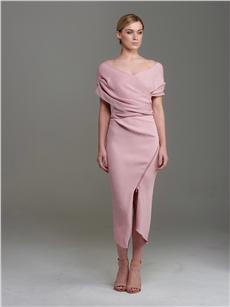 Madison Wrap Dress Blush