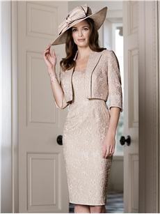 Gold Metallic Dress and Jacket 26140a