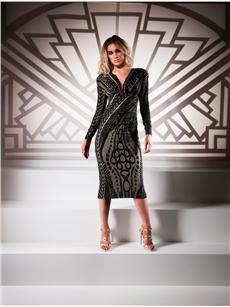 Evelyn Plunge Dress