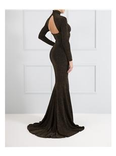 Fiona Black Maxi Dress Gold