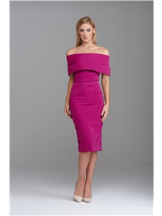 Mateo Knee Dress Magenta