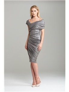 Halia Silver Glaze Side Zip Dress