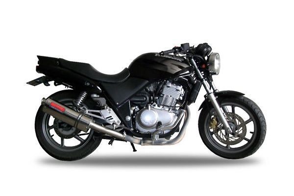 cb500 exhaust stainless tri oval gpr motorcycle exhausts. Black Bedroom Furniture Sets. Home Design Ideas