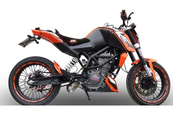 ktm duke 125 exhaust stainless powercone gpr motorcycle exhausts. Black Bedroom Furniture Sets. Home Design Ideas