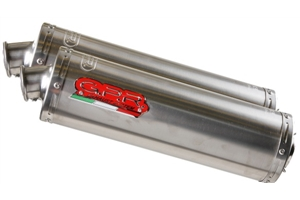 VTR 1000 F Exhaust - Double HIGH Level SC 36 - Titanium Oval