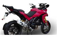 Ducati Multistrada 1200 Exhausts with Decat pipe Speedcone Black