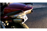 VFR 800 V-Tech Exhaust - Stainless Deeptone