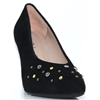 Valonia - UNISA BLACK SUEDE COURT SHOES