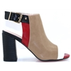 Oxfordshire - KATE APPLEBY FUDGE RED AND BLACK PEEP TOE ANKLE BOOTS