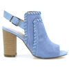 Cusula-9 - SUSST POWDER BLUE PEEP TOE ANKLE BOOTS