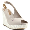 Iconic Elena Basic Sling Back - TOMMY HILFIGER COBBLESTONE WEDGES