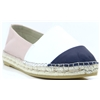 00300 - VIDORRETA NUDE WHITE AND NAVY ESPADRILLES