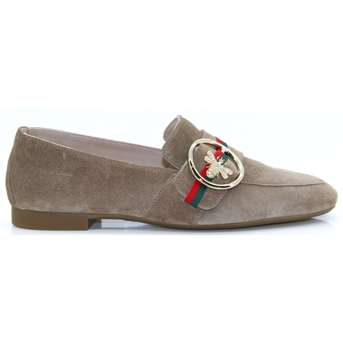 7bb6a6d4436 2472 - PAUL GREEN TAUPE SUEDE LOAFERS - Panache Shoe Company