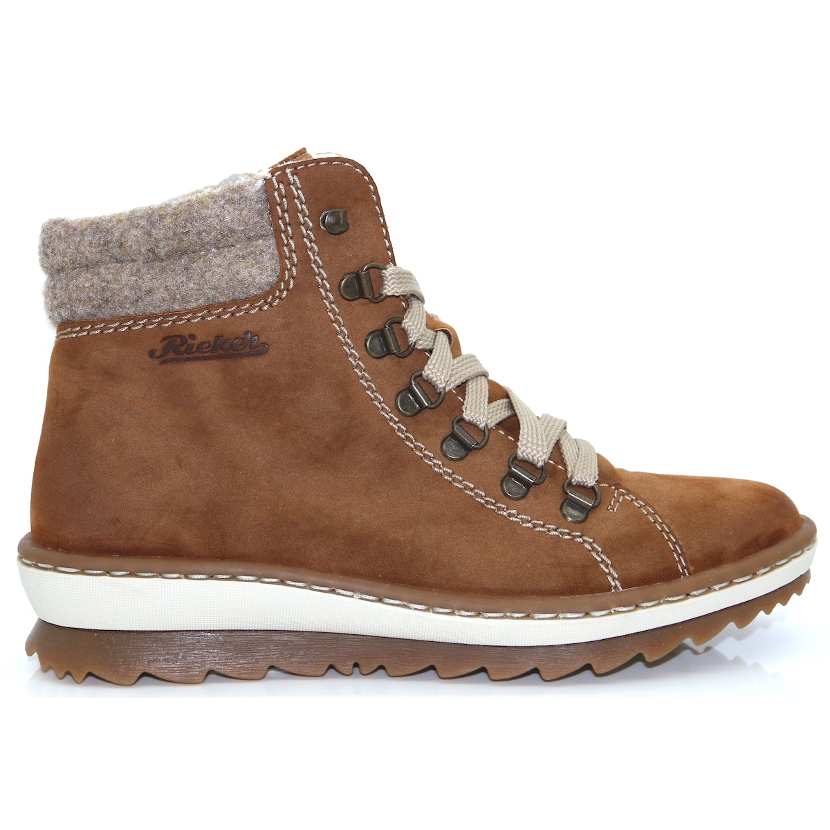 fine quality limited price wide selection of colours and designs Z8610-24 - RIEKER TAN FLEECE LINED ANKLE BOOTS