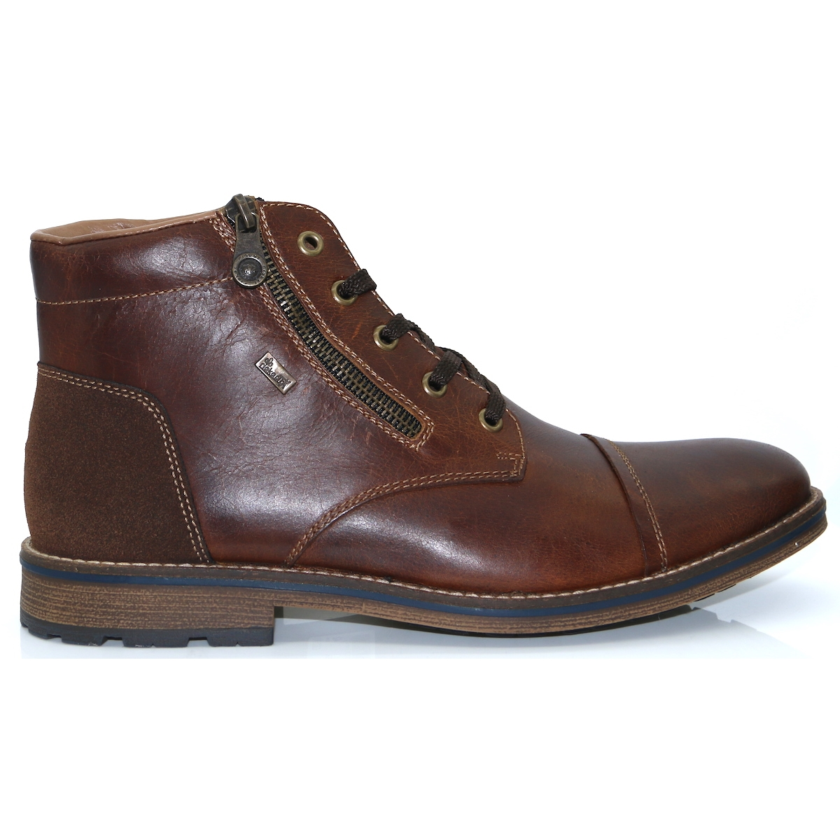bf544d8759304 F5530-25 - RIEKER DARK BROWN ANKLE BOOTS - Panache Shoe Company