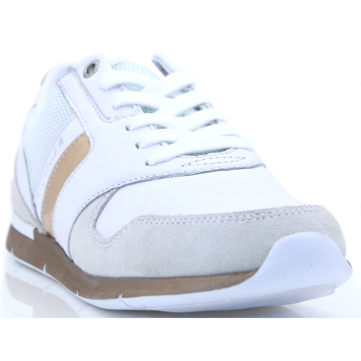 1dab49e0d Iridescent Light Sneaker - Tommy Hilfiger WHITE AND ROSE GOLD TRAINERS -  Panache Shoe Company