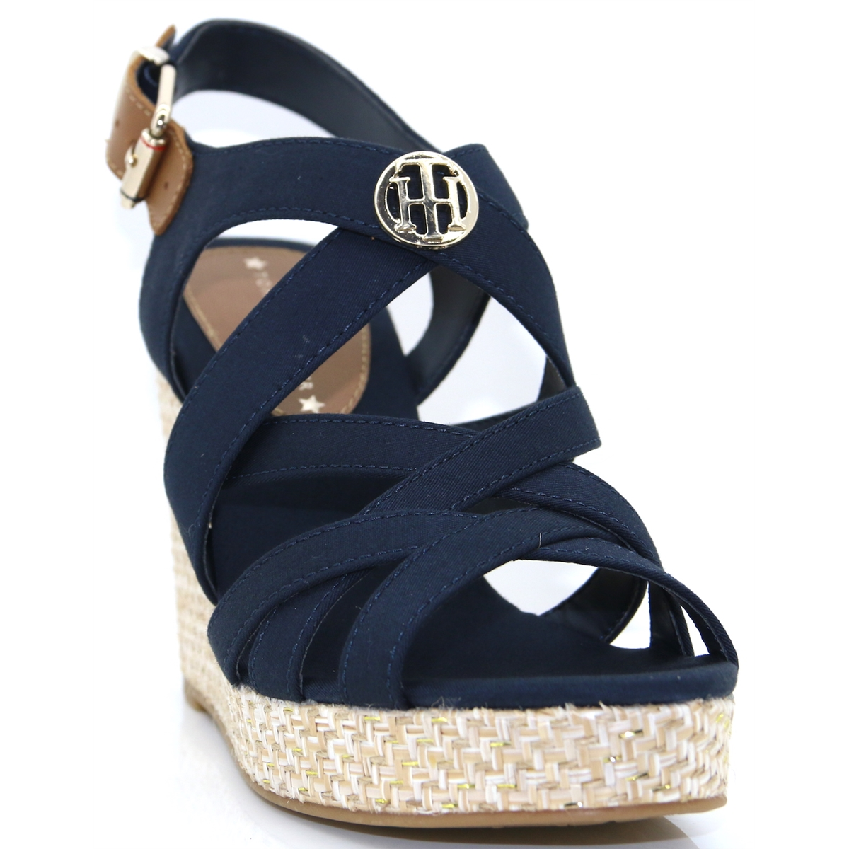 6fd6d4717 Iconic Elena Sandal Hardware - Tommy Hilfiger MIDNIGHT WEDGES - Panache  Shoe Company