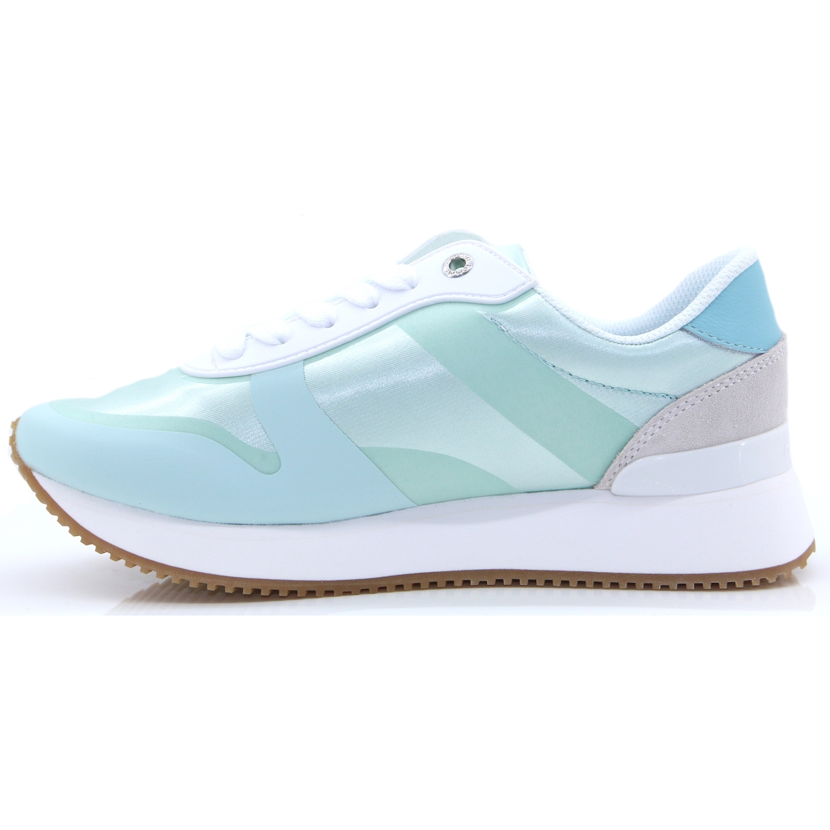 53ba8129ee0e Pop Colour Satin City Sneaker - Tommy Hilfiger AQUA HAZE TRAINERS - Panache  Shoe Company