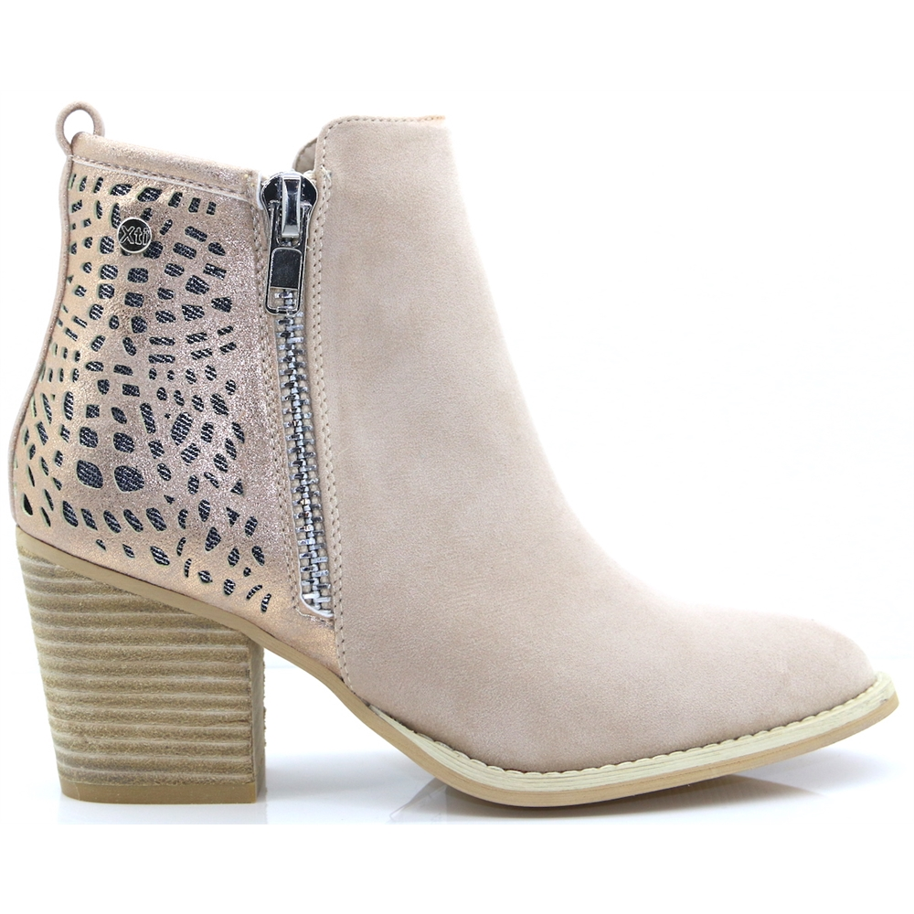 48928 - XTI BEIGE ANKLE BOOTS