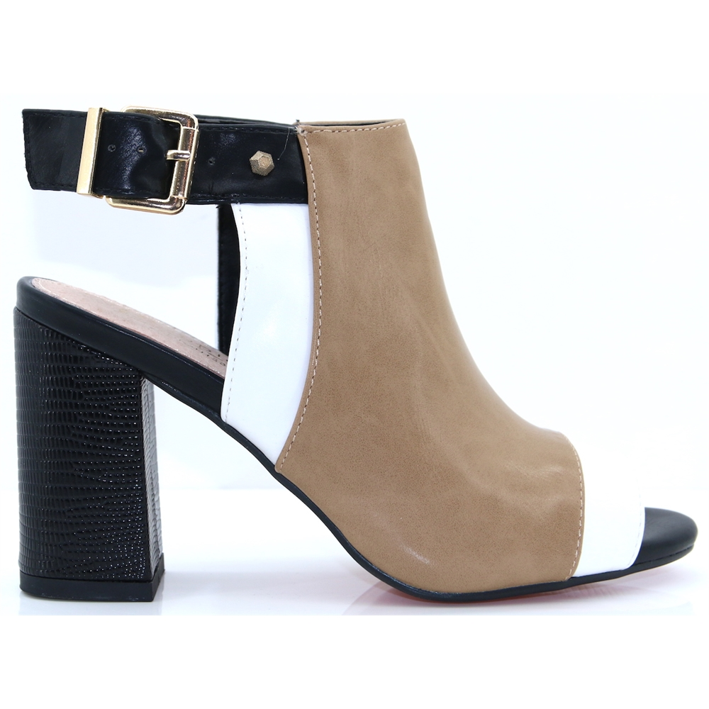 Oxfordshire - KATE APPLEBY FUDGE PEEP TOE ANKLE BOOTS
