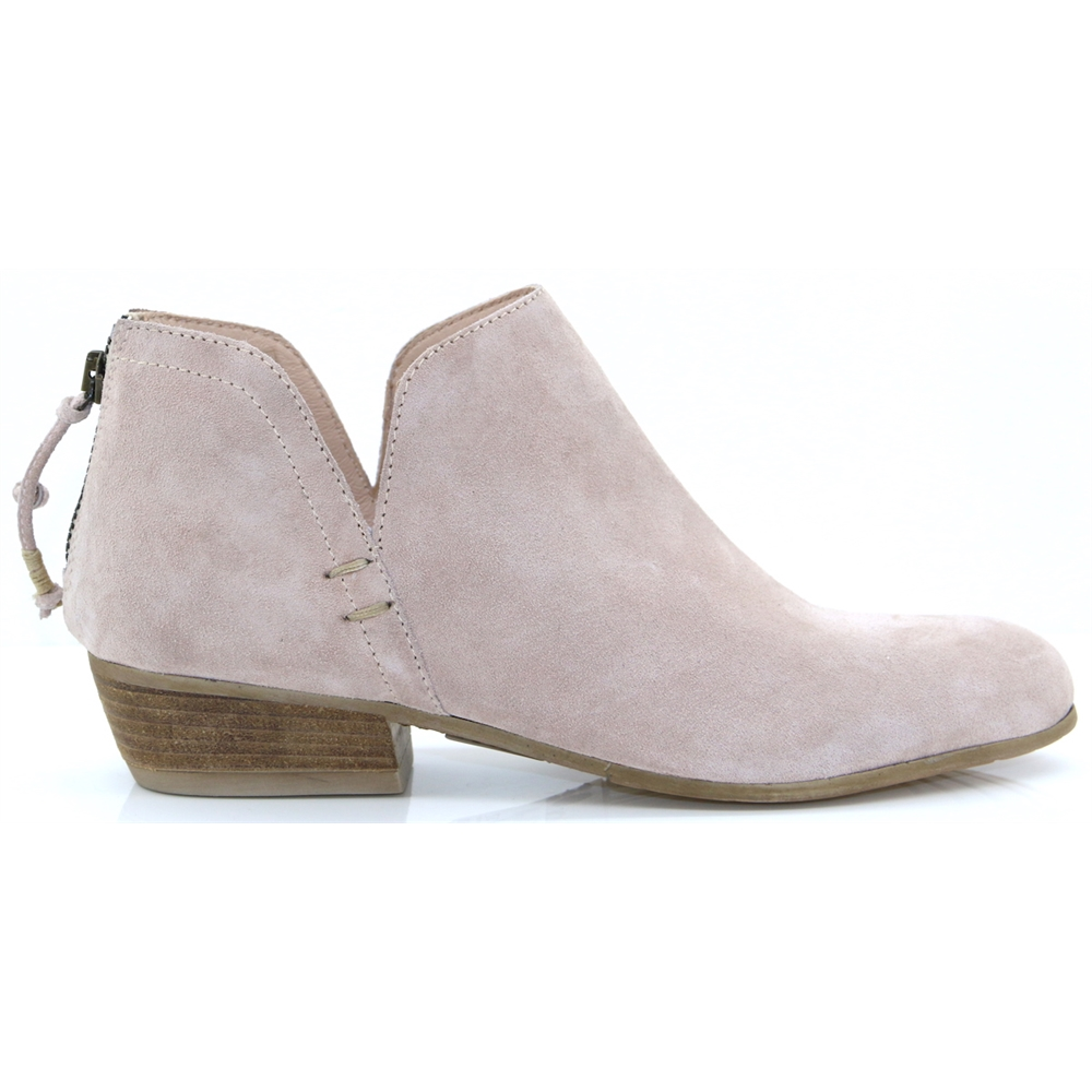 Baset - CARA NUDE SUEDE ANKLE BOOTS