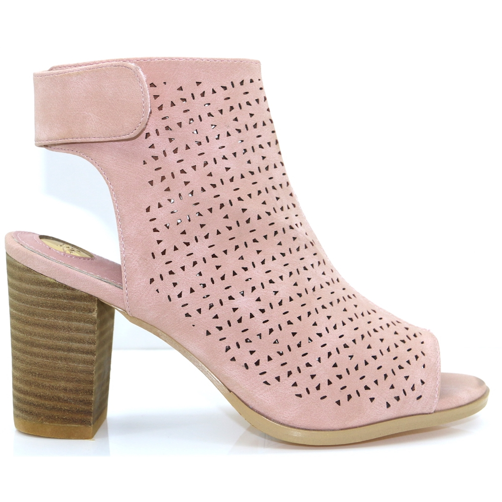 Jackie - RANT AND RAVE NUDE PEEP TOE ANKLE BOOTS