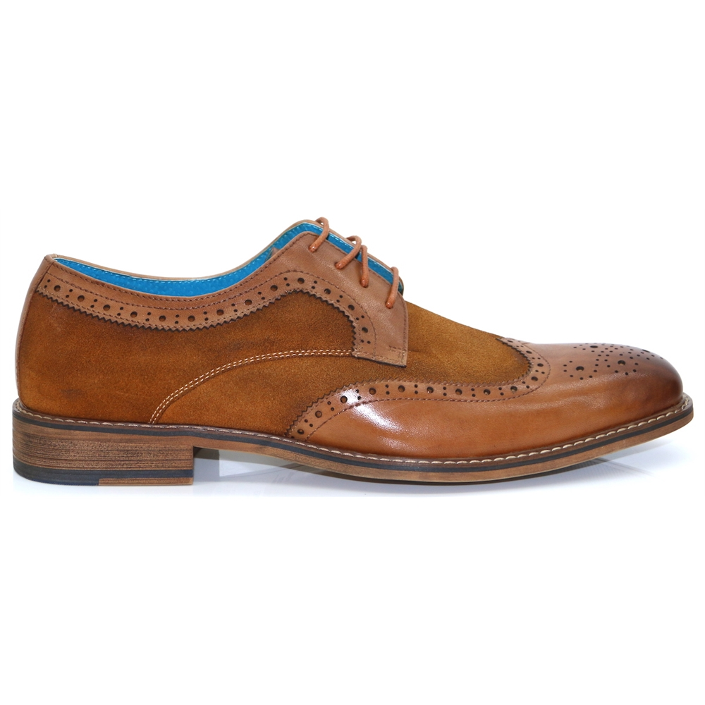 Eli Brogue - PAOLO VANDINI TAN BROGUES