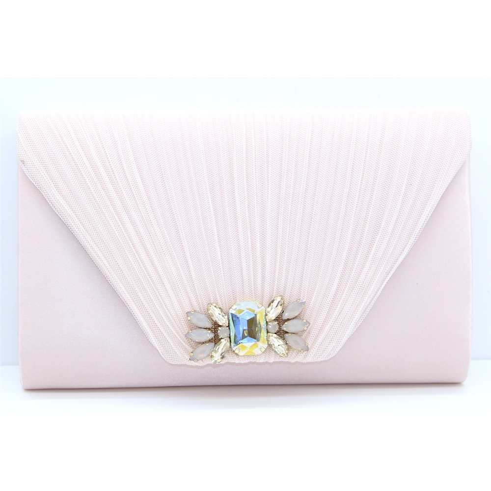 Amalfi - LUNAR PINK CLUTCH BAG