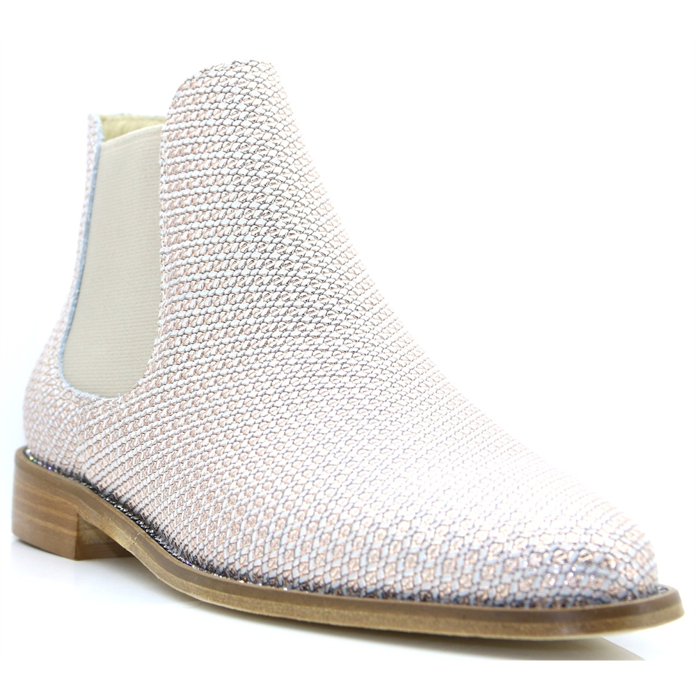 3853 - NICOLA SEXTON ROSE GOLD CHELSEA BOOTS