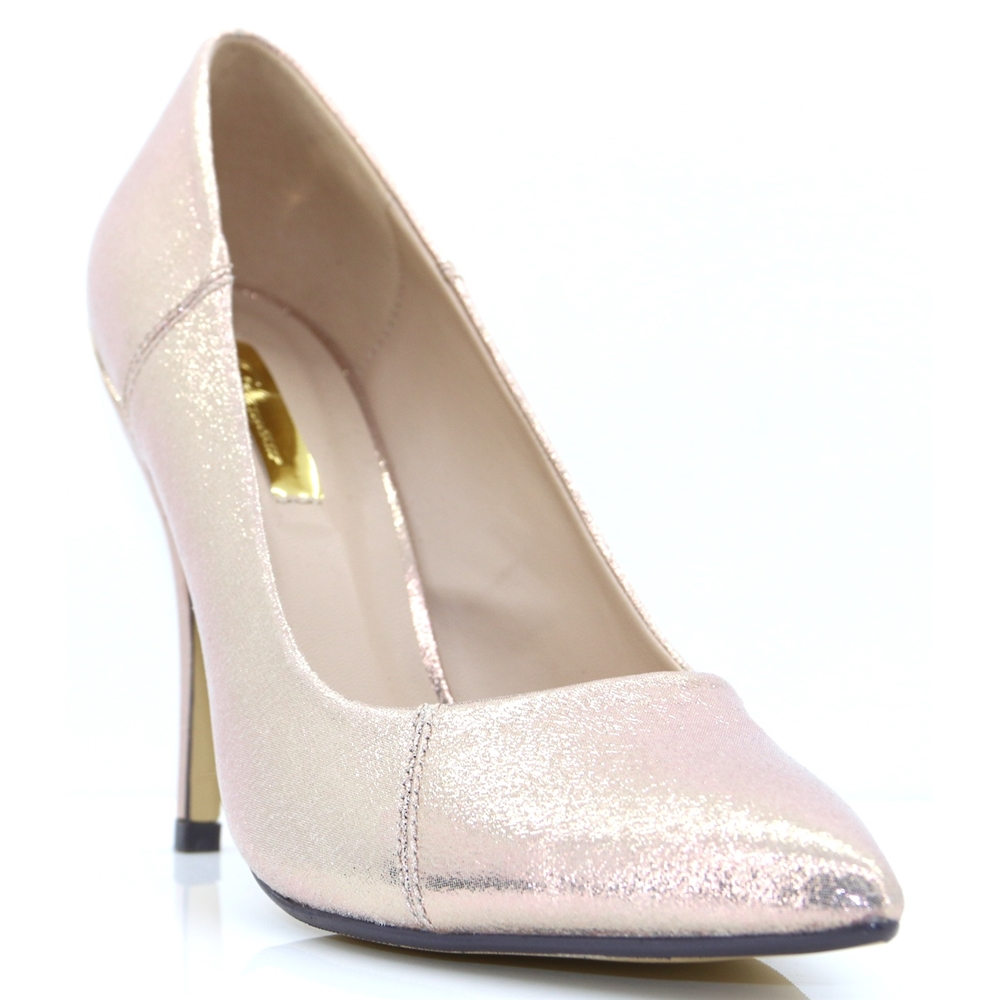 Carrie - GLAMOUR ROSE GOLD COURT SHOES