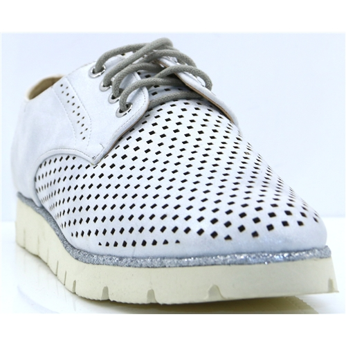 OL170323-05B - REDZ SILVER LACE UP SHOES