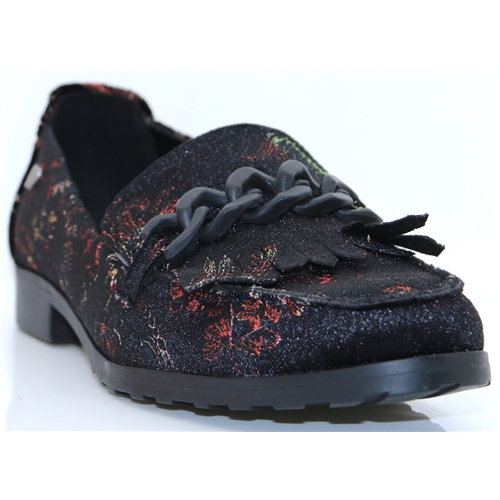 415503 - FABS BLACK FLORAL LOAFERS